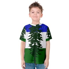 Flag Of Cascadia Kids  Cotton Tee by abbeyz71