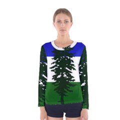 Flag Of Cascadia Women s Long Sleeve Tee by abbeyz71