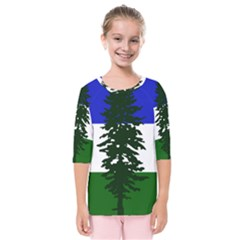 Flag Of Cascadia Kids  Quarter Sleeve Raglan Tee by abbeyz71