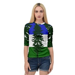 Flag Of Cascadia Quarter Sleeve Raglan Tee by abbeyz71