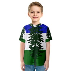 Flag Of Cascadia Kids  Sport Mesh Tee by abbeyz71