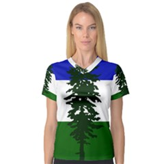Flag Of Cascadia V Neck Sport Mesh Tee by abbeyz71