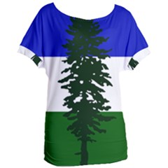 Flag 0f Cascadia Women s Oversized Tee by abbeyz71
