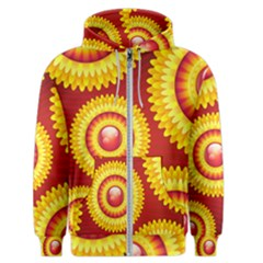 Floral Abstract Background Texture Men s Zipper Hoodie