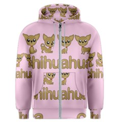 Chihuahua Men s Zipper Hoodie by Valentinaart