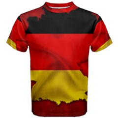Germany Map Flag Country Red Flag Men s Cotton Tee