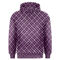 Woven2 Black Marble & Purple Glitter Men s Overhead Hoodie by trendistuff