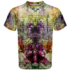 Background Art Abstract Watercolor Men s Cotton Tee by Nexatart