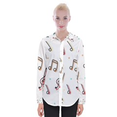 Vip Note Print Womens Long Sleeve Shirt by ThreadsBySkyBox