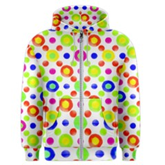 Multicolored Circles Motif Pattern Men s Zipper Hoodie by dflcprints