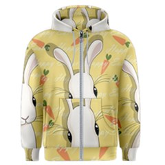 Easter Bunny  Men s Zipper Hoodie by Valentinaart