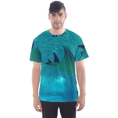 Manta Ray 1 Men s Sports Mesh Tee by trendistuff