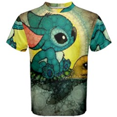 Stich And Turtle Men s Cotton Tee