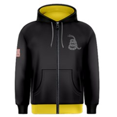 Gadsden Flag Don t Tread On Me Men s Zipper Hoodie by snek
