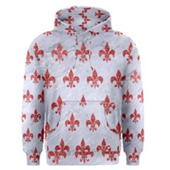 Royal1 White Marble & Red Glitter Men s Pullover Hoodie by trendistuff