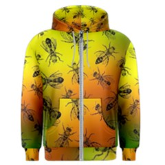 Insect Pattern Men s Zipper Hoodie