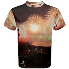 Kuwait Liberation Day National Day Fireworks Men s Cotton Tee