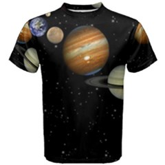 Outer Space Planets Solar System Men s Cotton Tee