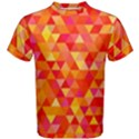 Triangle Tile Mosaic Pattern Men s Cotton Tee View1
