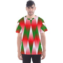 Christmas Geometric Background Men s Sports Mesh Tee