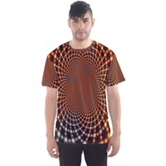 Pattern Texture Star Rings Men s Sports Mesh Tee