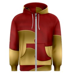 Background Banner Festive Wave Men s Zipper Hoodie