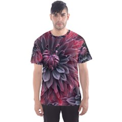 Flower Fractals Pattern Design Creative Men s Sports Mesh Tee