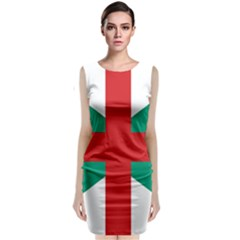 Naval Jack Of Bulgaria Classic Sleeveless Midi Dress by abbeyz71