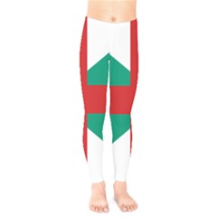 Naval Jack Of Bulgaria Kids  Legging by abbeyz71