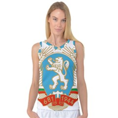 Coat Of Arms Of People s Republic Of Bulgaria, 1971 1990 Women s Basketball Tank Top by abbeyz71
