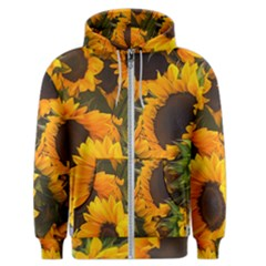 Sunflowers Men s Zipper Hoodie