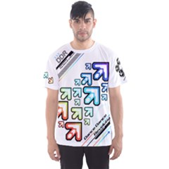 Ddr Vivid White Men s Sports Mesh Tee by concon