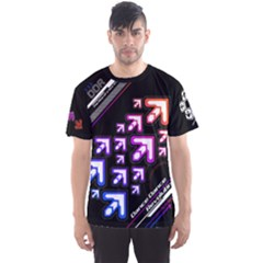 Ddr Rainbow Dark Men s Sports Mesh Tee by concon