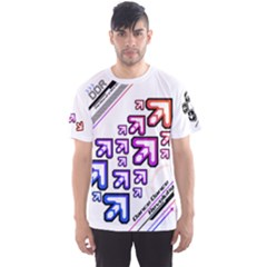 Ddr Rainbow White Men s Sports Mesh Tee by concon