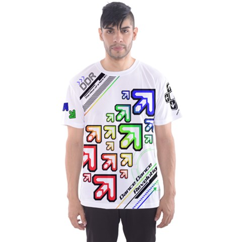 Ddr Note White Men s Sports Mesh Tee by concon