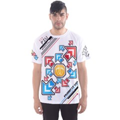 Piu Arrows White Men s Sports Mesh Tee by concon