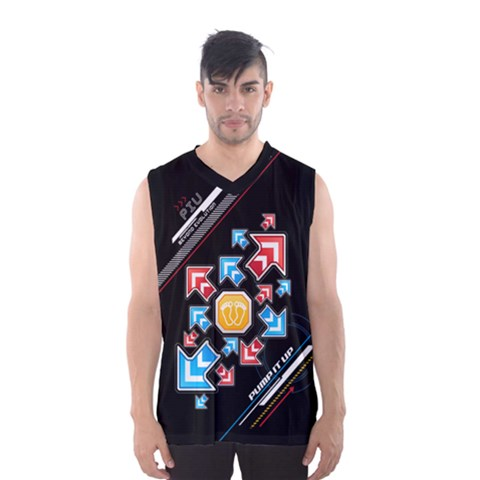Piu Arrows Dark Tank Men s Basketball Tank Top