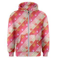 Background Desktop Pink Sun Stars Men s Zipper Hoodie