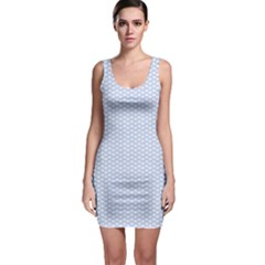 Alice Blue White Kisses In English Country Garden Bodycon Dress by PodArtist