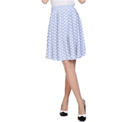 Alice Blue White Kisses In English Country Garden A Line Skirt by PodArtist