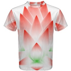 Lotus Flower Blossom Abstract Men s Cotton Tee