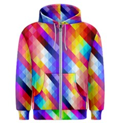 Abstract Background Colorful Pattern Men s Zipper Hoodie