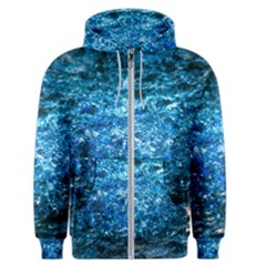 Water Color Blue Men s Zipper Hoodie by FunnyCow