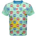 Pop n Music Blue Cotton Men s Cotton Tee View1