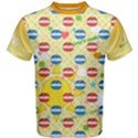 Pop n Music Yellow Cotton Men s Cotton Tee View1
