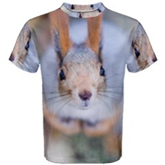 Squirrel Looks At You Men s Cotton Tee by FunnyCow