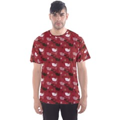 Snow Sleigh Deer Red Men s Sports Mesh Tee