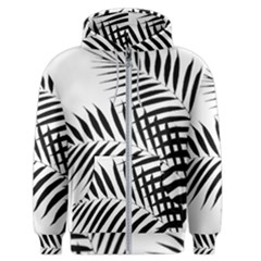 Palm Leaves Men s Zipper Hoodie