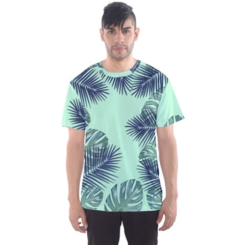 Tropical Leaves Green Leaf Men s Sports Mesh Tee by AnjaniArt
