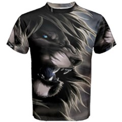 Angry Lion Digital Art Hd Men s Cotton Tee